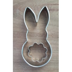 Cortante conejo x 2 piezas grande 10.5cm