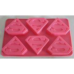 Molde Silicona Superman x 6 cavidades