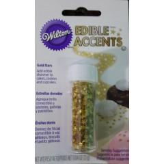 Estrellitas doradas comestibles Wilton