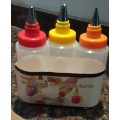 Set de 3 botellas decoradoras con picos para cookies