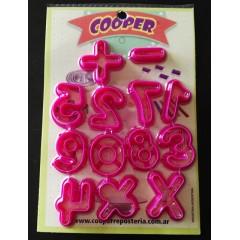 Cortantes plásticos números y signos