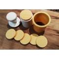 Cortador de galletitas con sello de silicona con 6 discos de diseño, Modelo 2