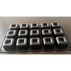 Molde silicona Medium Square x 15