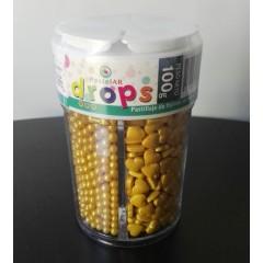 Drops Pastelar 4 celdas Dorado x 100 grs