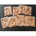 Cortante cookie números o al 9 por unidad marca Cairo 10cm