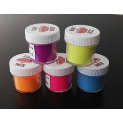 Colorantes comestibles fluo (azul, amarillo, fucsia, violeta, naranja)
