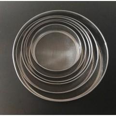 Cernidores x 6 acero inoxidable de 15 a 27 cm