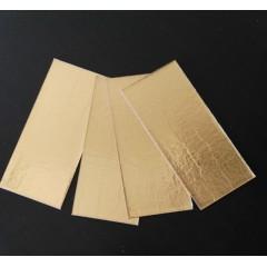 Base de cartón oro 13.5cm x 6cm por 100 unidades