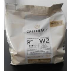 Chocolate cobertura Callebaut blanco x 400 grs
