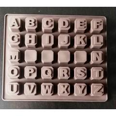 Molde silicona bombón, letras