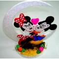 Mickey y minnie c/luna
